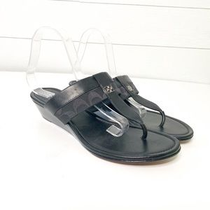 Coach Varona Black Slide On Wedge Sandals Size 11